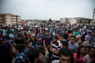 Fra begravelser samme dag som portforbudet i Nusaybin ble opphevet.