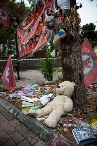 Minnessted der massakren i Suruc skjedde, hvor 33 ungdommer ble drept.