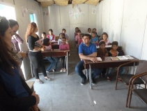 Barneskole i en konteiner